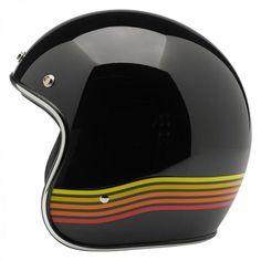 Biltwell Inc. / Biltwell Bonanza Helmet - LE Spectrum Black/Orange