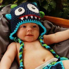 monster hat crochet