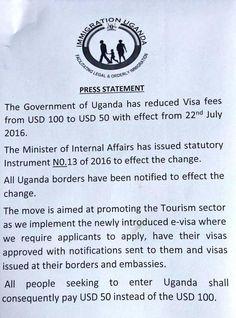 uganda visa at $50