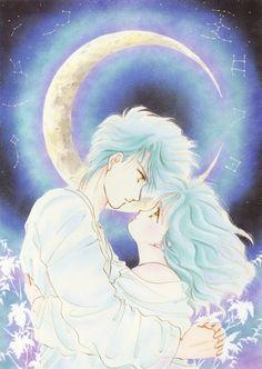 "Art from ""Fushigi Yuugi"" series by manga artist Yuu Watase."