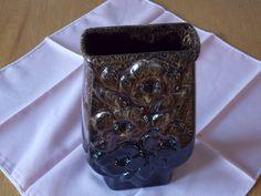 Brown pottery vase. by ByGoneEraEmporium on Etsy