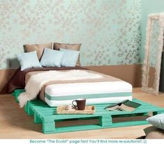 DIY bed frame, absolutely love this, an the color is perfect!