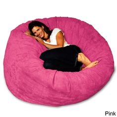 5-foot Memory Foam Bean Bag Chair (Pink Micro Suede), Size Large (Microfiber) #CheapMemoryFoam