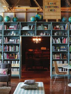 Beautiful home library from Anthology magazine.
