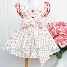 RTS Stella Red Polka Dot Pinafore Dress
