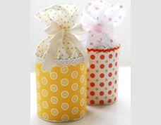 Lembrancinha linda com material reciclável – Lata decorada