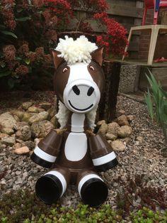Clay pots horse