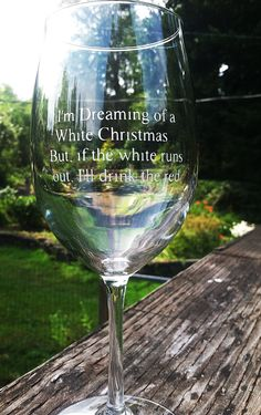Christmas Wine Glass Etched with Funny Saying by KBGlassetching, $15.00