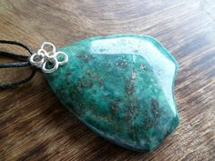 Chrysocolla with inclusions of pyrite and sterling silver by Unics, $41.00