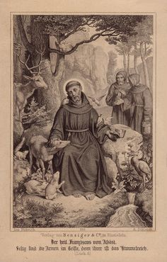 Saint Francis of Assisi the Patron Saint of Animals. He is one of the most venerated religious figures in history. Catholic Art, Catholic Saints, Patron Saints, Roman Catholic, Religious Art, Francis Of Assisi, St Francis, San Francisco, Jean Paul Ii
