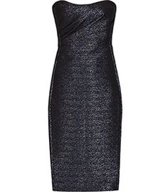 Marilyn Midnight Structured Bandeau Dress - REISS