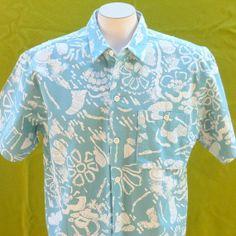 Mens Hawaiian shirt vintage 1960s  floral by BornToShopVintage, $39.99