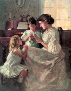 Francis Day (1863 – 1942, American) - The First Stitch*