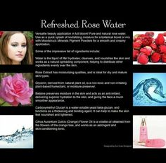 Refreshed Rose Water. Pure and natural! Buy your Younique business for only $99 and start making money immediately! Find out how here: https://www.youniqueproducts.com/LashesByAleta