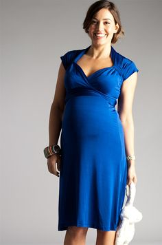 The Headturner £179    Beautiful #maternity dress - for pregnancy or breastfeeding - by Bb London UK    #katemiddleton  #lissa #royalblue  #duchessofcambridge