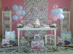 decoração de corujinha - Pesquisa Google Owl Themed Parties, Party Themes, Owl Shower, Ideas Para, Backdrops, Pastel, Birthday, Baby Showers, Mobiles