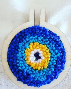 Evileye punch kasnak kolye mini hoop