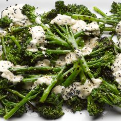 Char-grilled sprouting broccoli with sweet tahini I Ottolenghi recipes