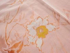 Japanese Antique Kimono Silk Pink Flower Good Condition P091609 | eBay