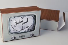 """Printable Vintage/ Retro Television """"I Love Lucy""""-inspired Gift/ Favor Box from party pooped. $8.00, via Etsy."""
