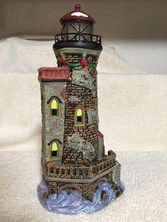 "Santa's Workbench Porcelain ""Stoney Brooke"" Lighthouse Towne Collection- 2002-"