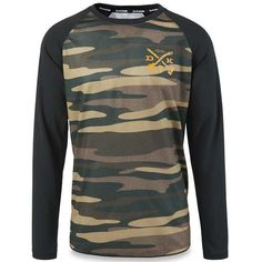 Dakine Dropout Long Sleeve Mountain Bike MTB Jersey - Field Camo 7dcda6d9d