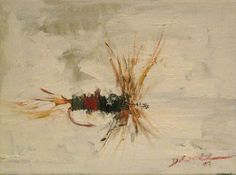 Only kind of impressionism I like Dry fly oil painting - Royal Wulff
