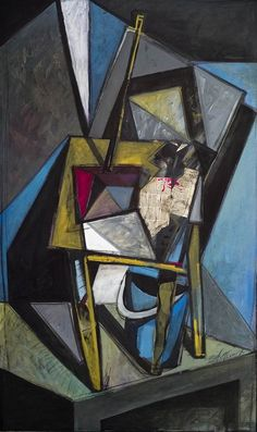 Composition with table [Cubism-A336] - $500.00 painting by oilpaintingsartmaker.com