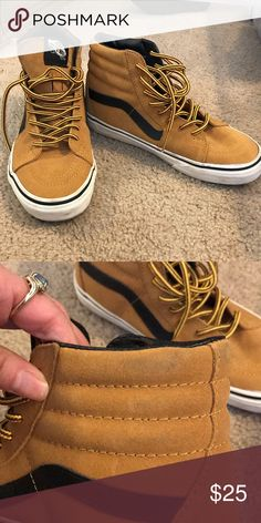 305643697a0223 Tan colored high top vans Great condition! Barely look used. Back side is a