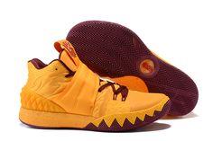 "sports shoes 11b22 5dd5b Nike Kyrie S1 Hybrid ""Cavs"" Yellow Wine Red Basketball Shoes Nike  Basketball Shoes"