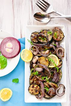 Fried Green Pickles: Tasty Tuesday - Grilled Zucchini & Red Onion with Lemon-Basil Vinaigrette