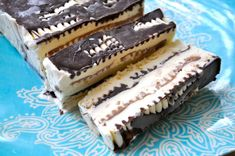 Home made Viennetta.  When I was a kid the commercials totally had me fooled into thinking this was the classiest dessert ever!