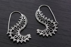 Beautiful feminine brass earrings inspired by leaf design. Stylish handmade design and are perfect for women who love statement jewelry. Measurements: 2 inches