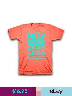 T-Shirts Christian T-Shirt Pray More Worry Less Kerusso Womens Brand c41409b54