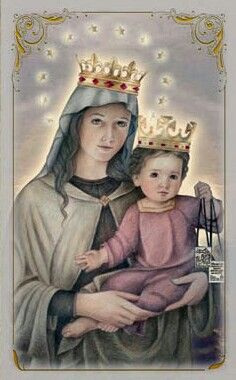 Our Lady of Mount Carmel - Feast Day is July 16, Art Portraits of Saints