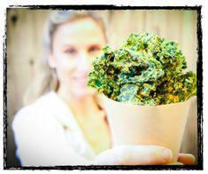 Cheesy Kale Chips Recipe.  Yummmy