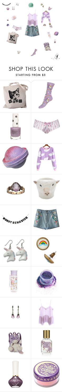 """""""One Day"""" by edit-hansson ❤ liked on Polyvore featuring Topshop, Alexis Smith, Quail, WALL, In Your Dreams, StyleStalker, Pillow Pets, Lollia, Paul & Joe and Lime Crime"""