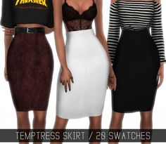 Simpliciaty: Temptress skirt • Sims 4 Downloads
