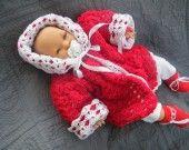 manteaux au crochet pour nouveaux nés reversible