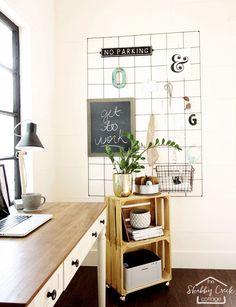 Shabby Creek Home Office Backyard Studio, Home Office Design, House Design,  Memo Boards