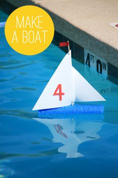 Make a Sailboat with a Pool Noodle & Craft Foam #summer #kidscraft