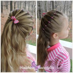 Such a simple hairstyle with an added pop to it. :-), Such a easy coiffure with an added pop to it. :-) Such a easy coiffure with an added pop to it. :-) Such a easy coiffure with an added pop to it. Baby Girl Hairstyles, Trendy Hairstyles, Braided Hairstyles, Toddler Hairstyles, Long Haircuts, Beautiful Hairstyles, Hairdos, Natural Hairstyles, Girl Hair Dos