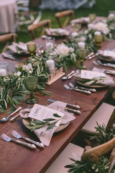 When France meets Greece lots of aromas and senses are combined and you have this dreamy Olive Green Wedding in Greece by RockPaperScissors Events. Olive Green Weddings, Olive Wedding, Grecian Wedding, Sage Green Wedding, Rustic Wedding, Green Wedding Decorations, Flower Decorations, Greece Wedding, Italy Wedding