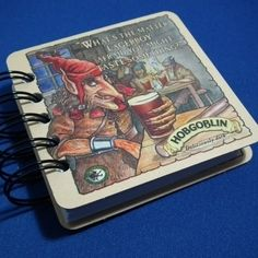 Recycled Beer Mat Notebook £3.75