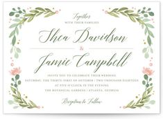 Garden Glamour Wedding Invitations