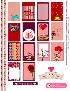 Free Printable Valentine's Day Planner Stickers