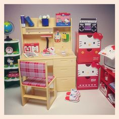 My Hello Kitty x Re-ment study table.