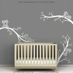 Children's Room Tree Wall Decal White Gray and by TheKoalaStore, $79.00