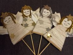 Winter Crafts For Kids, Winter Kids, Projects For Kids, Art Projects, Christmas Art, Christmas Decorations, Advent, Guardian Angels, Angel Ornaments