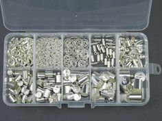 Zestaw Elementów Do Wklejania 247szt + Organizer 33,43 zł - Półfabrykaty do biżuterii \ Półfabrykaty \ Uchwyty \ Wklejane Noc Zakupów - MarMon.com.pl